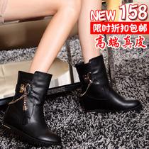 2013秋冬新款英伦马丁靴欧美潮流中筒保暖短靴韩版时尚内增高女鞋 价格:158.00