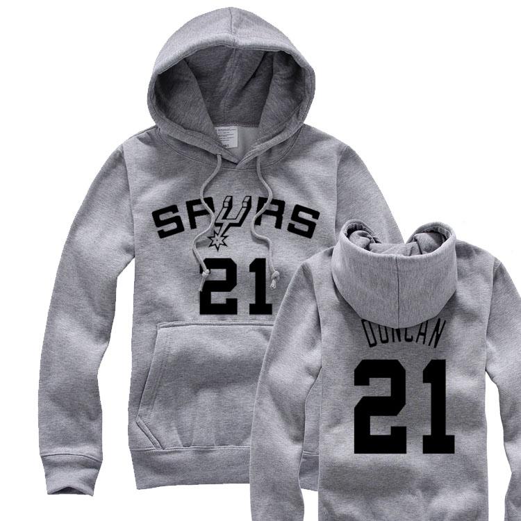 新款篮球男装卫衣吉诺比利 邓肯 麦蒂 帕克拉绒套头卫衣抓绒大码 价格:99.00
