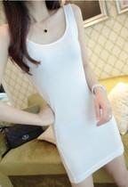 2013秋季女装韩版百搭长款包臀修身多色莱卡背心显瘦打底衫女长T 价格:42.99