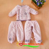 新款 安贝尔系带薄棉衣3件套4562 新生儿棉服 婴儿服宝宝棉裤春秋 价格:89.50