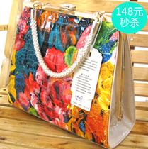 新款梦幻天使2157-2女包 油画真皮夹包 彩色包 漆皮亮面定型包 价格:148.00