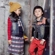 中大男童牛仔马甲 韩版中大童装牛仔马甲 男童 秋装 价格:67.93