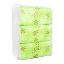 【天猫超市】清风纸巾 抽纸 淡绿花抽纸巾 188*136mm 2层200抽3包 价格:5.90