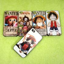 批发 苹果4手机保护套iPhone4S磨砂彩绘壳 卡通 动漫海贼王 乔巴 价格:2.30