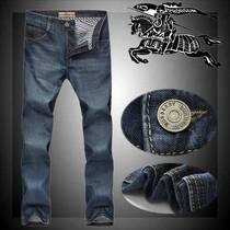 巴宝莉牛仔裤 高档男士牛仔裤 商务休闲直筒长裤子 男装牛仔长裤 价格:188.00