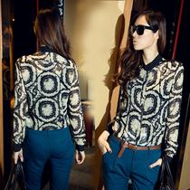 蘑菇街 包邮春装女式长袖雪纺衬衫 韩版显瘦立领衬衣女衬衫 复古 价格:59.00
