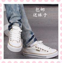 包邮帆布鞋 女 韩版 潮 新品 帆布鞋单鞋低帮 学生布鞋 白球鞋子 价格:36.00