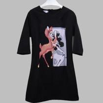 韩国代购秋冬装新款长袖连衣裙韩版修身印花黑色包臀针织打底裙女 价格:158.00