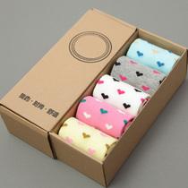 咕豆 新品袜子 女 棉袜 女士中筒可爱小爱心女袜 礼品袜 包邮 价格:19.80
