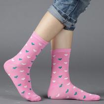 咕豆新品特价袜子 女 棉袜 女士中筒袜 韩版可爱潮女袜 10双包邮 价格:1.98