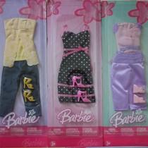 正版美泰 老款BARBIE芭比娃娃衣服套装连衣裙liv可儿fr珍妮适合 价格:15.84