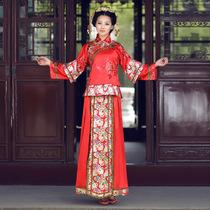 御恋裳中式结婚秀禾服新娘婚纱亮片秀和服红色新娘中式婚礼服装 价格:265.00