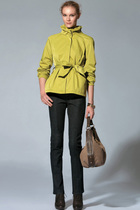 PORTS 宝姿专柜正品女装代购 短款运动型风衣柠檬绿 出行必备 价格:1299.00