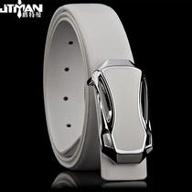 爵特曼爆款男士皮带 真皮 韩版 板扣皮带 正品腰带白色牛皮皮带潮 价格:69.00