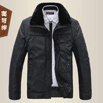 奥弩绅 2013新款中老年男装冬装棉衣外套加厚中年男士棉衣服男款 价格:139.00