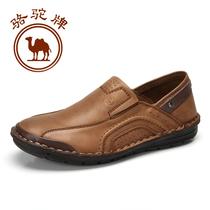 骆驼牌正品男鞋 头层牛真皮鞋日常休闲鞋 车缝线套脚鞋手工皮鞋 价格:362.00