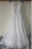 吊带长裙 日单小清新显瘦重工白色蕾丝吊带沙滩裙 棉 连衣裙仙女 价格:158.00