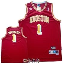 皇冠 NBA火箭队1号麦迪球衣 麦蒂番茄炒蛋篮球服 球迷版 复古 红 价格:65.00
