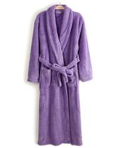 高档欧单2013秋冬女装新款 菠萝纹珊瑚绒长款睡袍浴袍有大码B12 价格:30.40