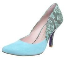 特价欧洲正品代购Miezko Amelie里外底全皮尖头蛇纹高跟鞋女鞋蓝 价格:587.02