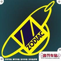 音符汽车摩托车反光车贴纸/五色订制 ZODIAC 品牌标志 5810 价格:8.00