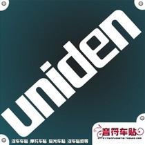 音符汽车摩托车反光车贴纸/五色订制 UNIDEN 品牌标志 5739 价格:5.00