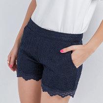 普派2013夏装新款 蕾丝短裤 热裤 裙裤欧根纱 修身时尚潮流 女 价格:89.00