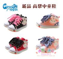 满68包邮 广迪秋款 韩版女童儿童单鞋童鞋 女孩高帮帆布鞋子 G320 价格:43.00