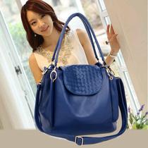 蓝色女包单肩包2013新款韩版水桶包斜挎包包小时尚两用手提包邮潮 价格:63.00