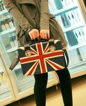 2013新款女包英伦风格米字英国国旗包复古邮差包单肩斜挎手提定型 价格:49.00