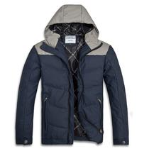 2013韩版新款羽绒服男装冬装连帽修身羽绒外套3色青春流行白鸭绒 价格:329.00