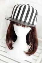黑白旋风 韩版潮帽条纹可爱平沿帽 情侣皮质平檐嘻哈男女棒球帽子 价格:19.90