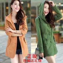 正版2013春秋装新款女装韩版修身显瘦短款风衣加大码风衣外套女款 价格:159.00