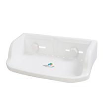 飞达三和 厨房浴室卫生间置物架 强力吸盘转角架 长方架 收纳架 价格:13.00