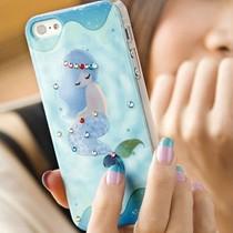 美人鱼iphone5S手机壳苹果5保护套 iphone4/4S手机套外壳水钻超薄 价格:33.50