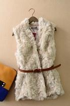 M-1350 仿羊毛马甲 女 价格:99.00