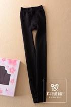 K-1222出口日本正品超弹加绒加厚踩脚修身提臀水貂绒打底裤保暖裤 价格:55.00