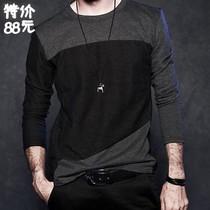 13秋装新款 杰克琼斯男士纯棉休闲修身个性拼色长袖T恤 韩版 价格:88.00