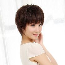 特价女士中老年假发 短发 女 蓬松短玉米烫30%真发帅气bobo头包邮 价格:67.90