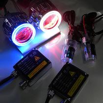 东南菱利双光透镜改装氙气灯HID 天使恶魔眼大灯总成安装升级 价格:56.00