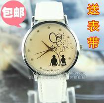 166手表女韩国学生潮白色少女新款时装表皮女式时尚可爱情侣包邮 价格:22.50