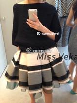 迪奥小姐 早秋新款 黑白 半裙 单裙 蓬蓬裙 短裙 价格:458.00