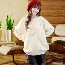 套头毛衣女韩版宽松 加厚外套秋冬针织衫 2013秋装新款女装 学生 价格:98.00