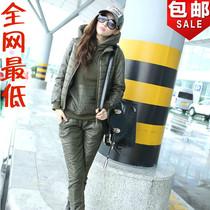 正品2013秋冬新款韩版三件套卫衣羽绒棉大码运动休闲套装职业装女 价格:257.60