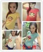 夏季新款 韩国大嘴猴正品代购 短袖 修身纯棉T恤 女 132672经典 价格:68.00
