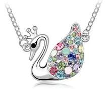 奥地利水晶项链饰品 天鹅王后 你是唯一的专属天使 饰品(5色选) 价格:9.80