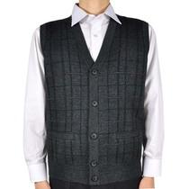 秋冬款 男士背心羊毛马甲 中老年背心 男装 爸爸背心 毛背心开衫 价格:98.00