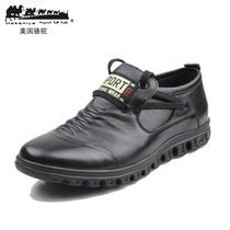 2013春款 美国骆驼皮鞋真皮流行男鞋 低帮鞋子男休闲驾车鞋包邮 价格:380.80