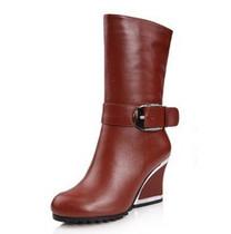 包邮欧洲站冬季新款DX78-A2真皮高跟大气马蹄跟靴子10寸长靴 价格:316.00