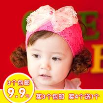 三个包邮韩版正品儿童假发发饰 儿童头饰韩国 儿童发带宝宝头饰 价格:9.90